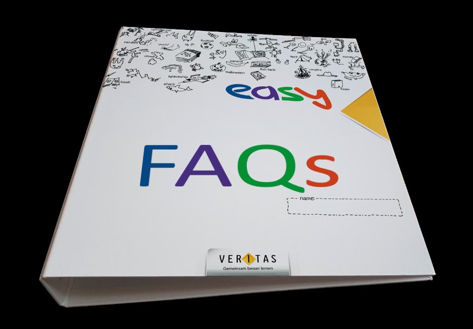 easy-Mappe mit Aufschrift FAQs