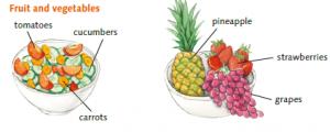 Reise nach Jerusalem mit Obst und Gemüse
