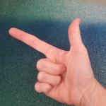 Binär zählen mit Fingern: Drei
