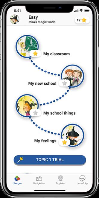 Die easy App. Eine native Smartphone-App mit vielen zusätzlichen interaktiven Übungen für den individuellen Lernerfolg.