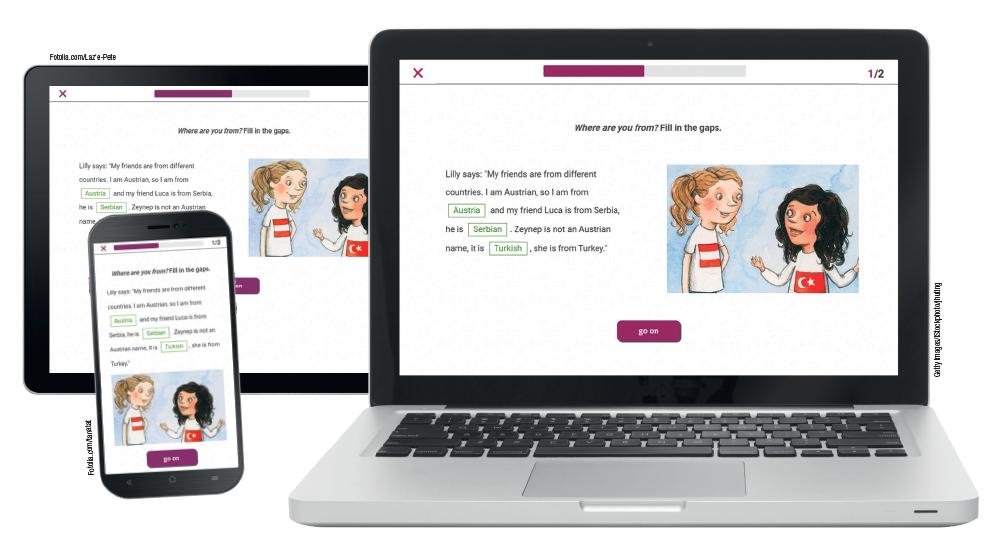 Der Verweis PLUS im easy pad zeigt an, dass es im E-Book PLUS auf www.scook.at zusätzliche, interaktive Aufgaben zu Grammatik, Wortschatz und Leseverständnis gibt. Optimiert für Smartphones.