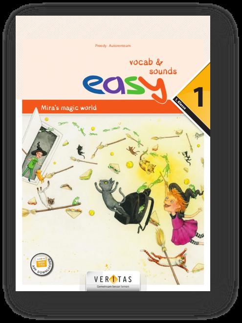 Das easy-Konzept folgt dem Lexical Approach. Die My new words-Seiten im book sind die Ausgangsbasis und verweisen auf die zweiseitigen vocab sheets pro Unit in easy vocab & sounds.
