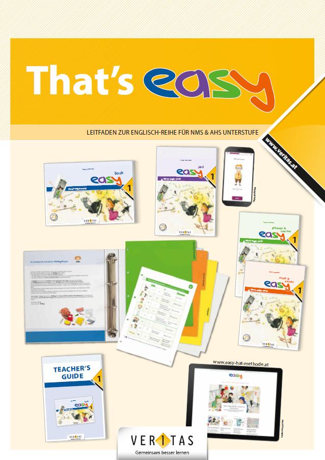 """Der 20-seitige Leitafden """"That's easy"""" bietet Ihnen eine Entdeckungsreise durch alle Bestandteile des neuen Lehrwerk-Pakets."""