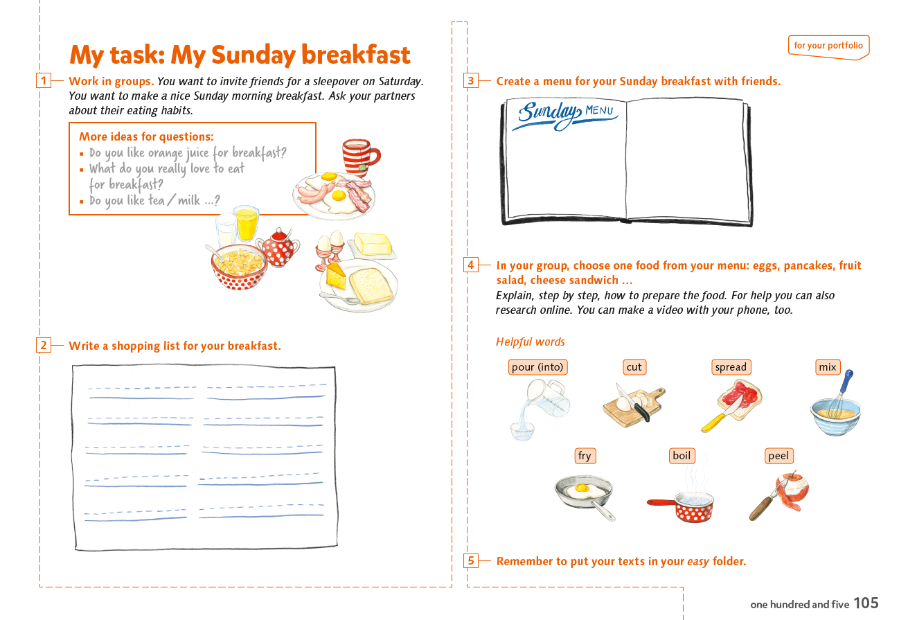 easy_1_book_S_105_My_task_My_Sunday_Breakfast writing